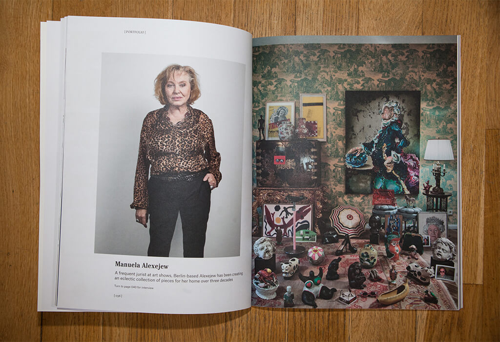 Lennart Grau Berlin Article Christies magazine manuela alexejew Carlos Brandl collection gemaltes Gold Berlin